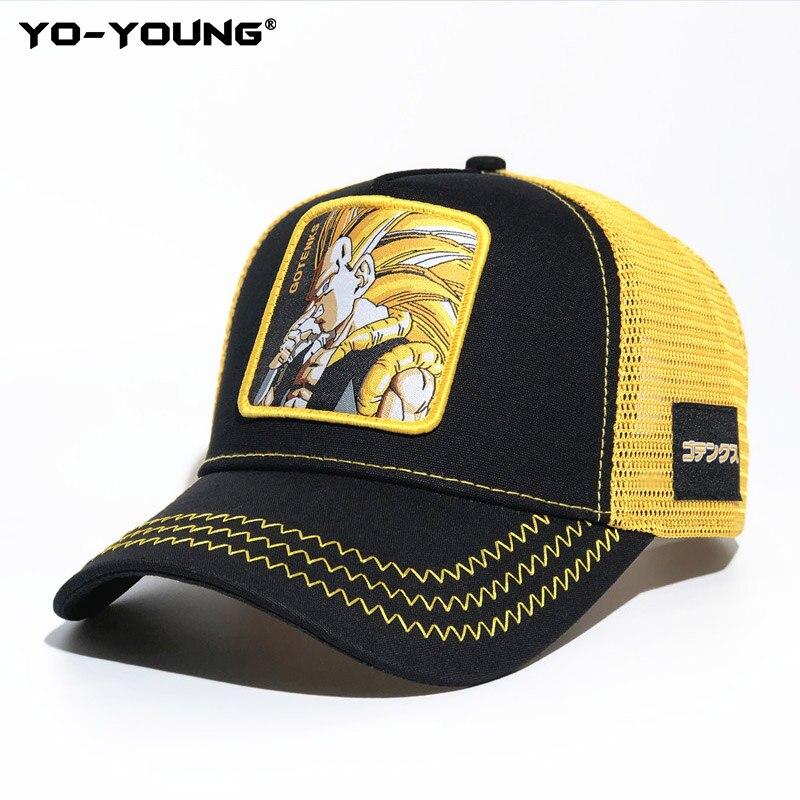 Yo-Young Baseball Caps Quality Dragon Balls Caps For Male Female Gorra Goku Kids Snapback Caps For Adult Sun Hat 53-59 Cm