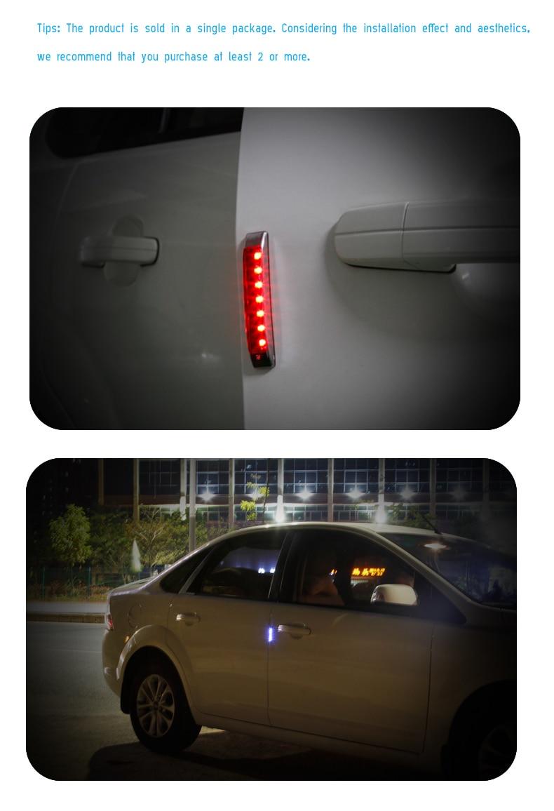 SOLAR CAR DOOR EDGE GUARD ANTI-COLLISION ANTI-STATIC LED WARNING LIGHT Wonderful