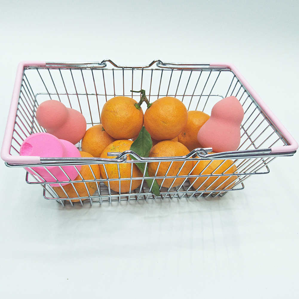 Crianças em miniatura metal supermercado compras cesta fingir papel jogar brinquedo presente crianças brinquedos educativos para o presente das crianças