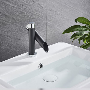 Image 4 - Suguword Chrome With Black Basin Sink Faucet  Hot & Cold Mixer Tap single Handle One Hole Bathroom Faucet Small Faucet Child New