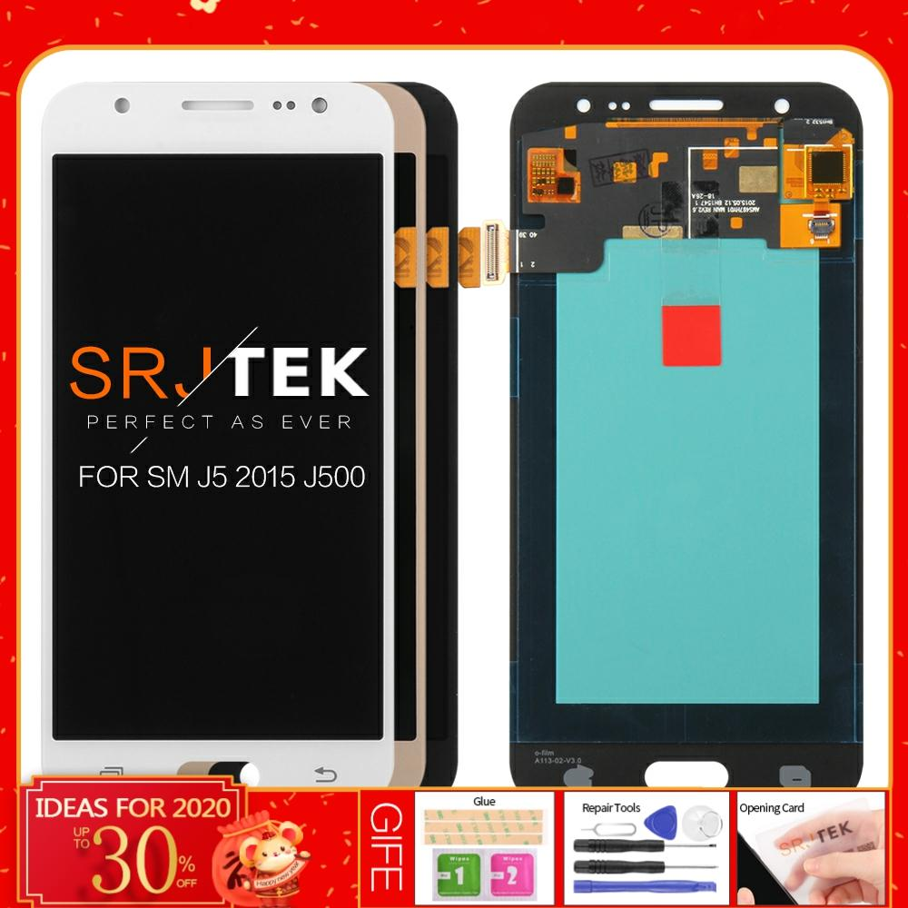 100% Tested Super <font><b>AMOLED</b></font> LCD For Samsung Galaxy J5 2015 <font><b>J500</b></font> J500F J500FN J500H J500M LCD Display Touch Screen Digitizer 20pins image