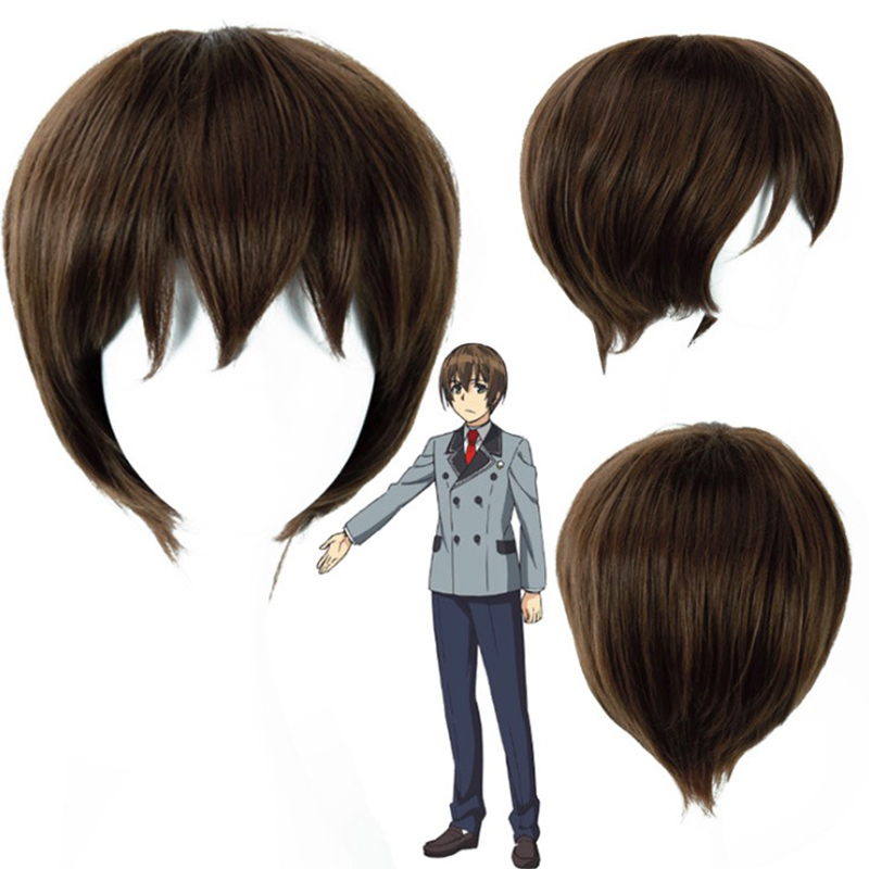 Anime SHIMONETA: A Boring World Where the Concept of Dirty Jokes Doesnt Exist Wigs SOX Tanukichi Okuma Costume Cosplay Wig image
