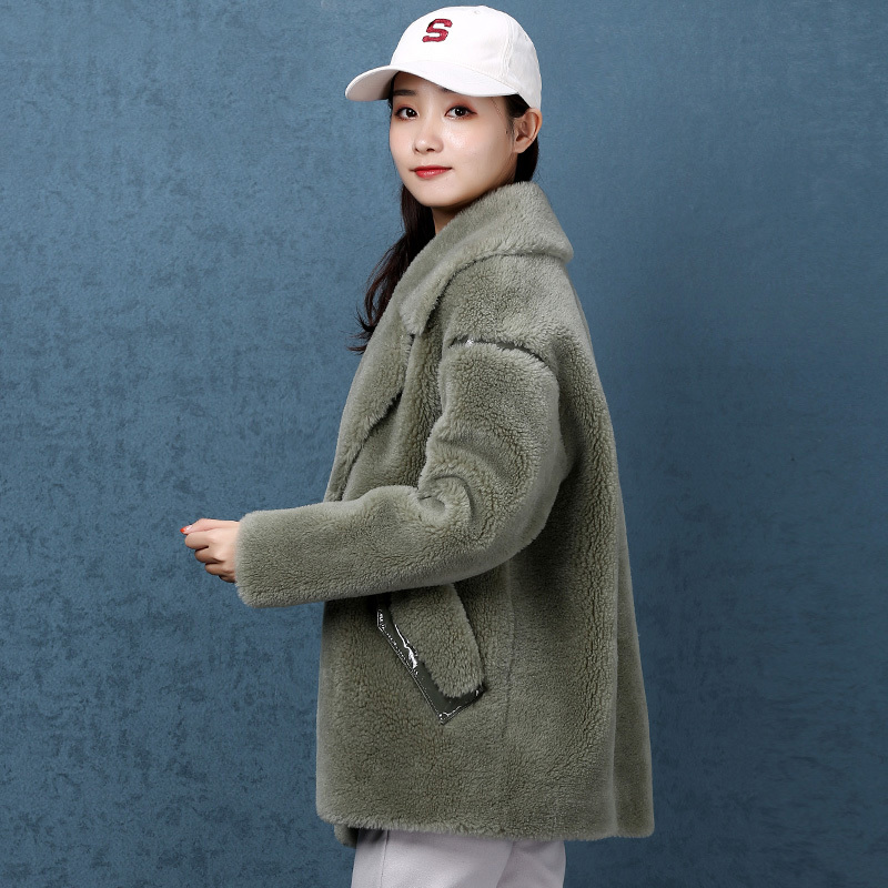 Real Fur Coat Women Sheep Shearing Winter Coat Women Korean Wool Jacket Women Clothes 2020 Abrigo Mujer NKZ9811 YY1428