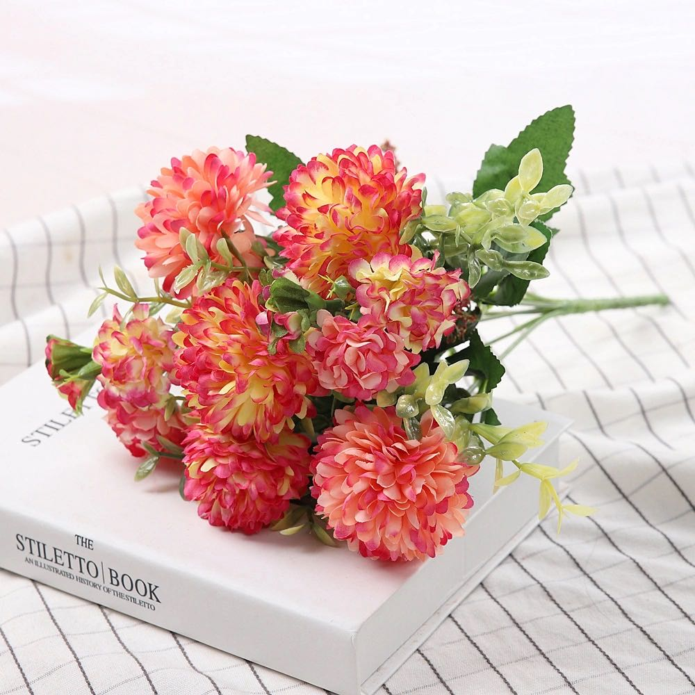 Peony Artificial Flowers High Quality Luxurious Bouquet Wedding Decoration for Home Table Decor Sky Blue Fake Flowers Hydrangea 7