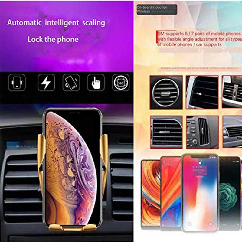 10 ワット無線車の充電器自動クランプ急速充電 Iphone XR XS 最大 Huawei 社 P30 プロサムスン S10 プラススマート電話