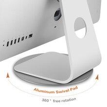 Supporto Monitor per iMac 360 rotazione supporto multi angolo in alluminio vassoio rotante per Monitor Laptop per proiettore TV LCD iMac Pro