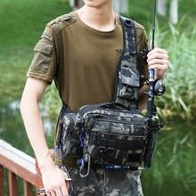 Saco de pesca multifuncional equipamento de pesca sacos ombro único saco crossbody pacote cintura peixe iscas engrenagem armazenamento utilitário 1pcs