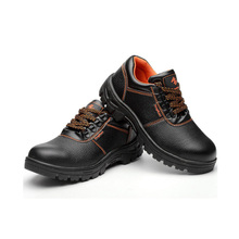 Mens anti-smashing, anti-piercing, steel sole, rubber wear-resistant, breathable and comfortable working shoes, black
