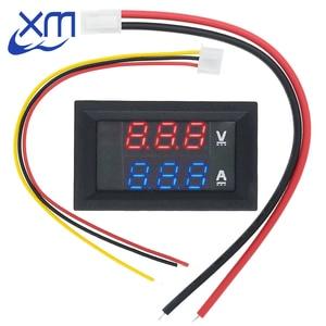 """Image 1 - DC 0 100V 10A Digital Voltmeter Ammeter Dual Display Voltage Detector Current Meter Panel Amp Volt Gauge 0.28"""" Red Blue LED"""