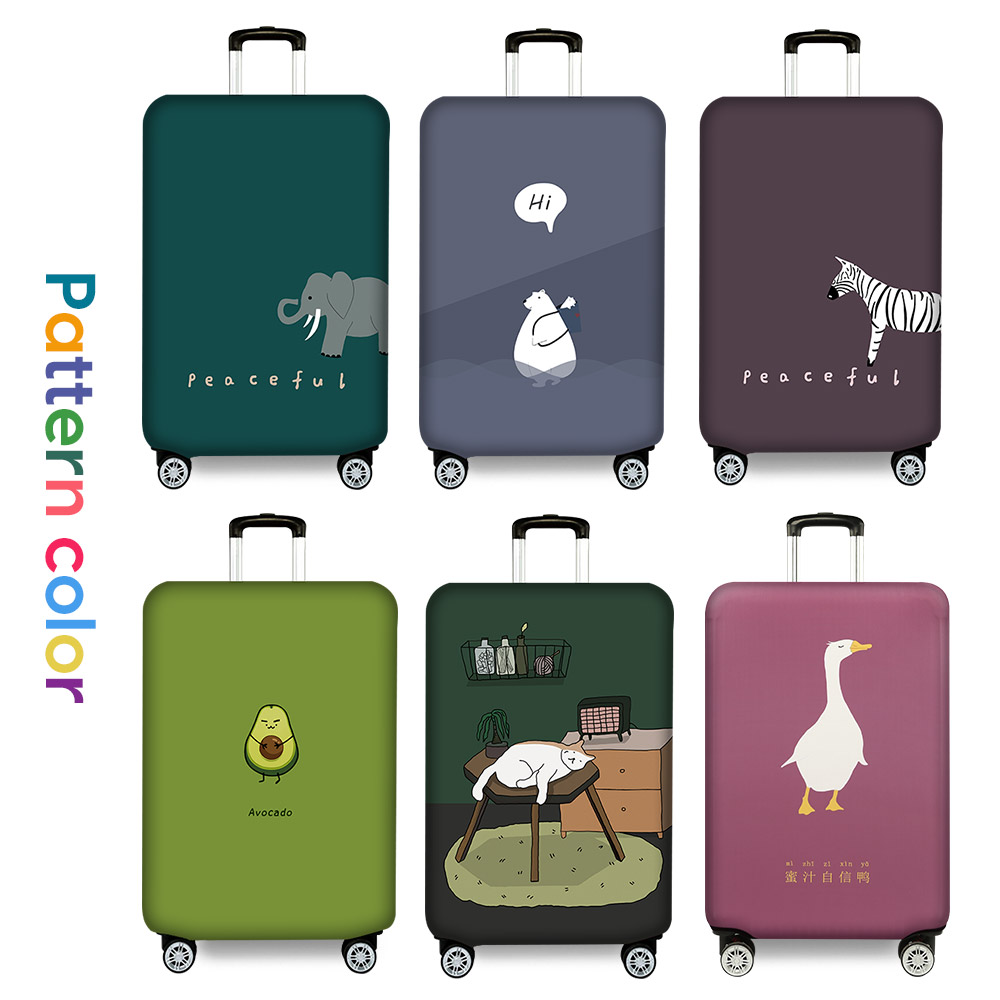 Luggage Cover Thicker Suitcase Protective Cover Elastic Luggage Dust Cover Travel Accessories Suitable 18