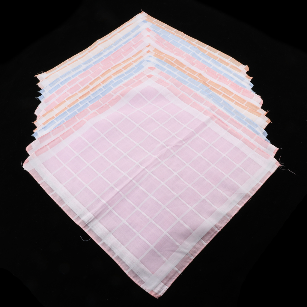 12Stk. Women's Handkerchiefs 100% Cotton Handkerchiefs, Soft