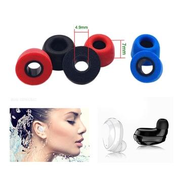 2 sztuk ANJIRUI wkładki do uszu 4.9mm M wysokość 7mm dotyczy TWS pamięci bawełniane zatyczki do uszu QCY T1/T5 zestaw słuchawkowy izolacja akustyczna ucha bawełna