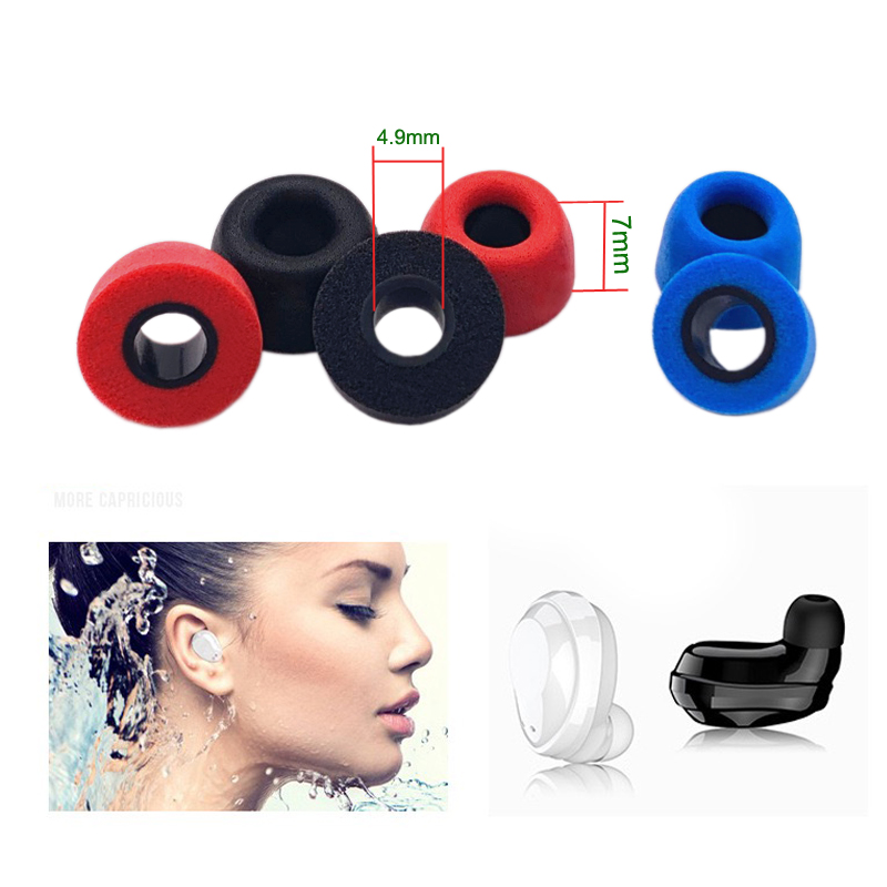 2pcs ANJIRUI Ear Pads 4.9mm M Height 7mm Applies For TWS Memory Cotton Earplugs QCY T1/T5 Headset Noise Isolation Ear Cotton