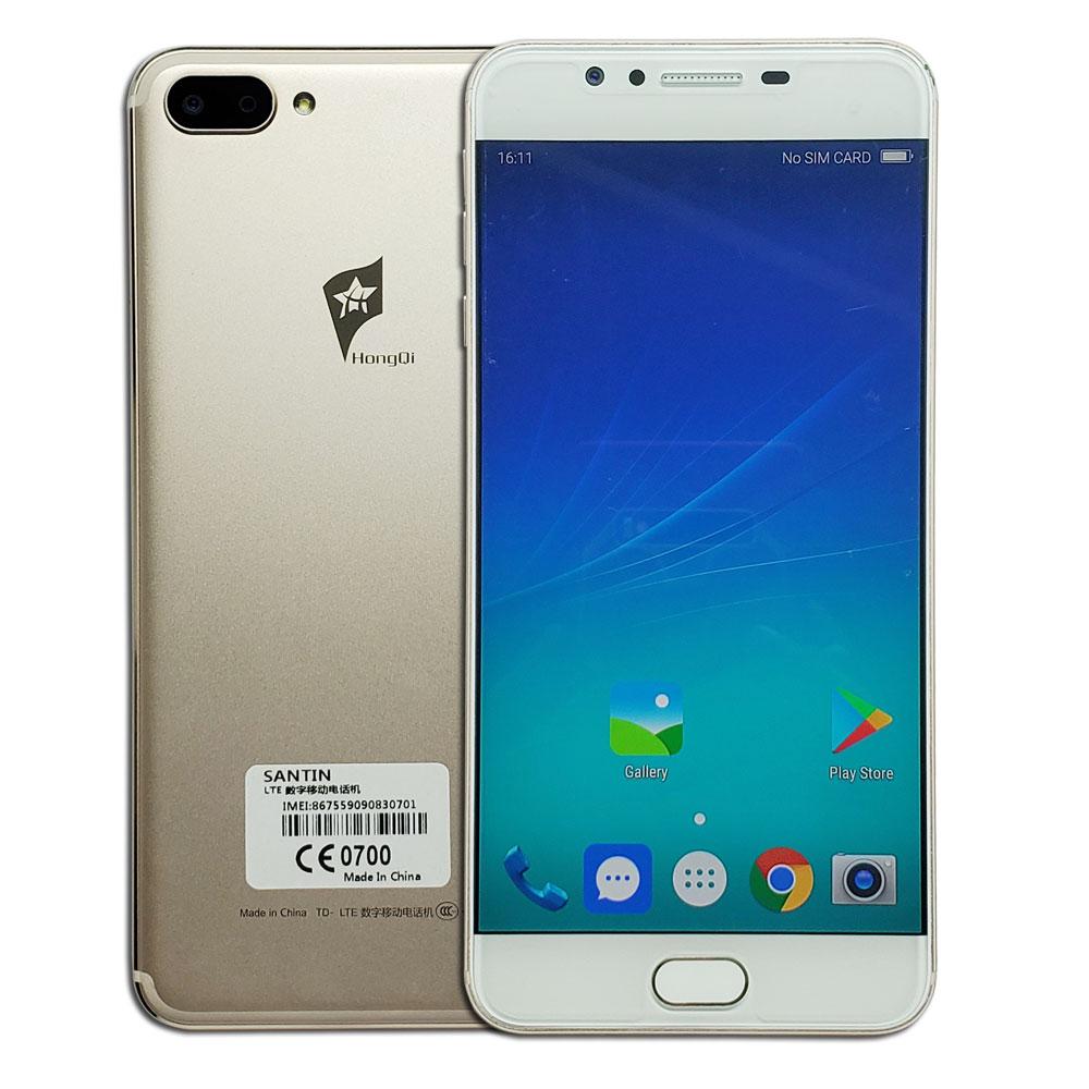 "Front 16MP 4GB RAM 64GB ROM SANTIN HongQi HQ1 Android Telefoon 5.5 ""Full HD 3000mAh Octa core Mobiele Telefoon 4G LTE Telefoon S3 S8 U18-in Mobiele Telefoons van Mobiele telefoons & telecommunicatie op AliExpress - 11.11_Dubbel 11Vrijgezellendag 1"