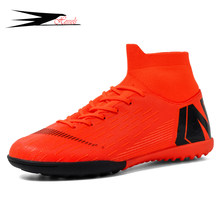 HESSELS TF/FG Soccer Cleats Adult Soccer Boots Outdoor Boys Football Boot HighTop Zapatillas Fustal Shoes Male Football Boots