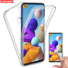 Samsung A21S 360 çift yumuşak silikon telefon kılıfları Samsung Galaxy A21S 21 S A21 S 6.5 inç lüks tam vücut kapak