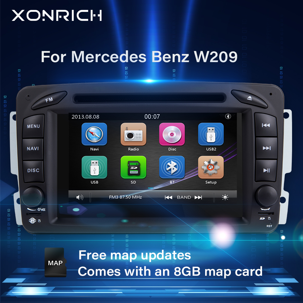 2 din <font><b>Car</b></font> <font><b>Radio</b></font> <font><b>GPS</b></font> DVD For <font><b>Mercedes</b></font> Benz CLK W209 W203 W463 <font><b>W208</b></font> W210 Vaneo vito w639 ml w168 multimedia Head Unit Stereo audio image