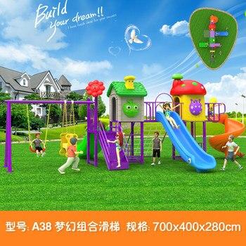 Tobogán de juguete para niños, juegos al aire libre para bebés, columpio, juegos de jardín de plástico para niños, patio de juegos para niños, jardín interior grande A38