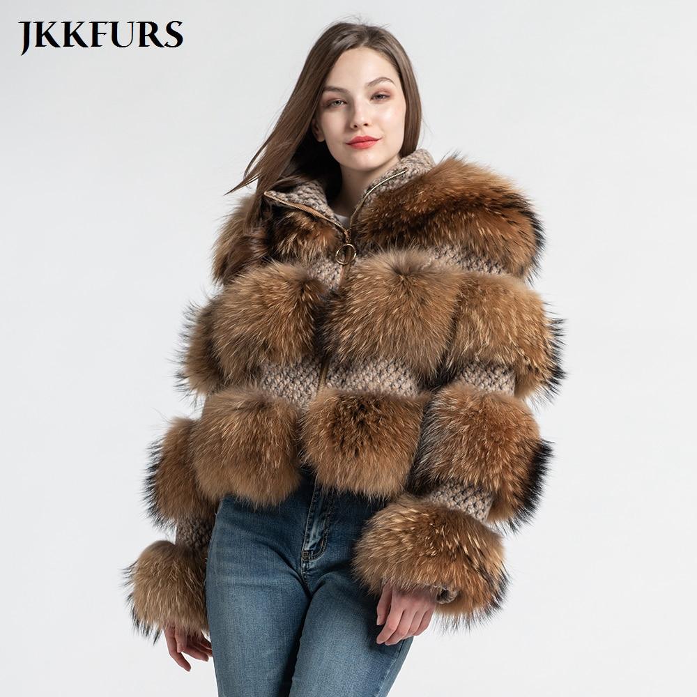 Neue frauen Echte Waschbär Pelzmantel Winter Mode Dicke Warme Pelz Jacke Echte Natürliche Pelz Hohe Qualität S7458-in Echtes Fell aus Damenbekleidung bei  Gruppe 1