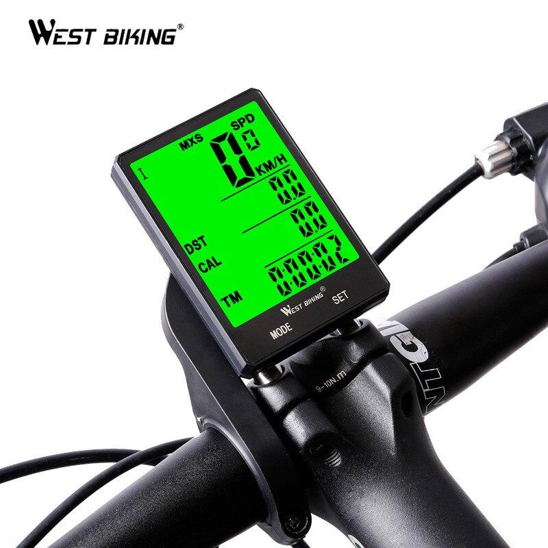 WEST BIKING Bike Computer Wireless Bicycle Speedometer Waterproof Odometer USA