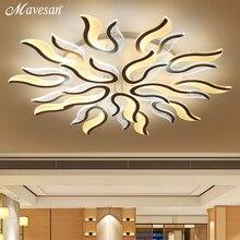 Современный акриловый светодиодный потолочный светильник для гостиной, ультратонкая потолочная лампа, декоративный абажур, Lamparas de techo AC90-265V