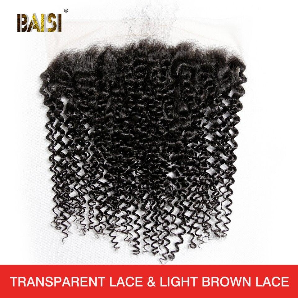Волосы BAISI, перуанские натуральные волосы, вьющиеся кружевные фронтальные, 13x4, свободная часть, натуральные волосы, 100% человеческие волосы