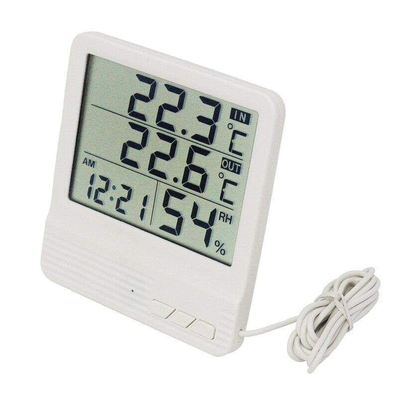 Термометр Ketotek, гигрометр для помещения и улицы, будильник, ЖК дисплей, цифровой измеритель температуры и влажности, метеостанция humidity meter temperature humiditytemperature humidity meter   АлиЭкспресс