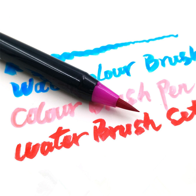 20 Color Watercolor Painting Markers Pen Premium Soft Brush Pen Set Coloring Books Manga Comic Calligraphy Art Marker 2
