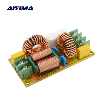 AIYIMA 25A EMI Power Filter Board Anti-interference AC Power Filter Power Supply For Speaker Amplifier DIY 20a rated current ac 115v 250v jr 1220 r power line emi filter