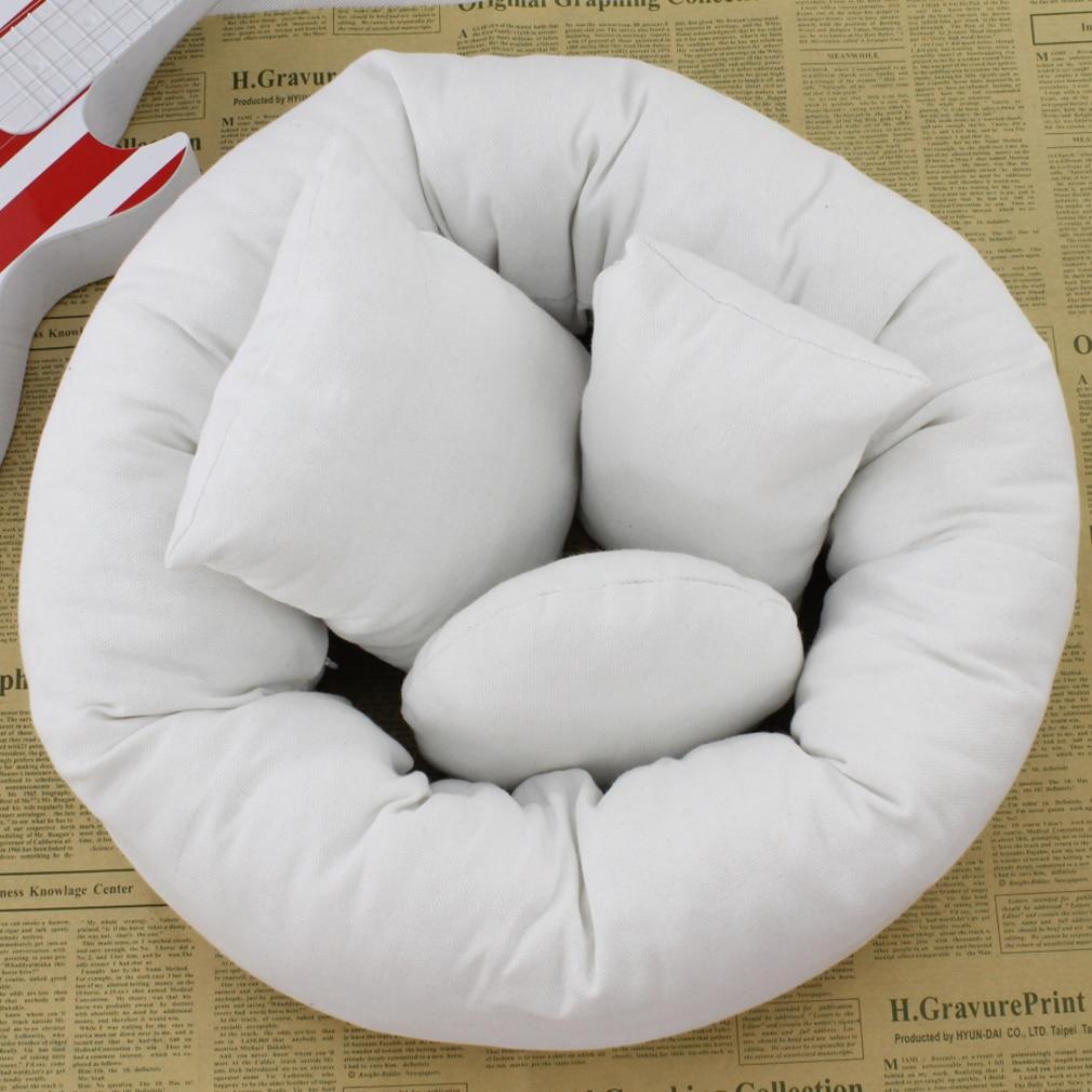 OUTAD 4PCS/Set Baby Newborn Photography Pillow Basket Filler Baby Wheat Donut Posing Props Posing Beanbag Studio Pillow Decorate