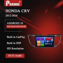 Dvd do carro para honda crv (2012-2016) rádio do carro reprodutor de vídeo multimídia navegação gps android 10.0 duplo ruído