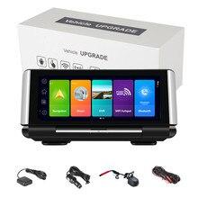 7 Polegada 4g android 8.1 carro dvr gps 2g ram fhd 1080p gravador de vídeo lente dupla câmera do painel wifi app monitoramento remoto