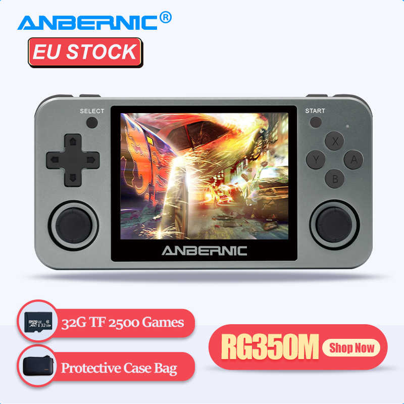 ANBERNIC Retro Game Player RG350M RG350 3.5 IPS 64Bit 32G TF 2500 Giochi RG 350 HDMI Uscita TV PS1 tenuto In Mano portatile Console di Gioco
