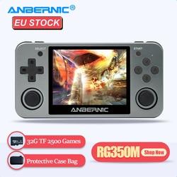 ANBERNIC juego Retro jugador RG350M RG350 3,5 IPS 64Bit 32G TF 2500 Juegos RG 350 salida HDMI de TV PS1 portátil consola de juegos portátil