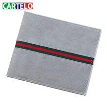 Мужской короткий кошелек cartelo в стиле ретро многофункциональный