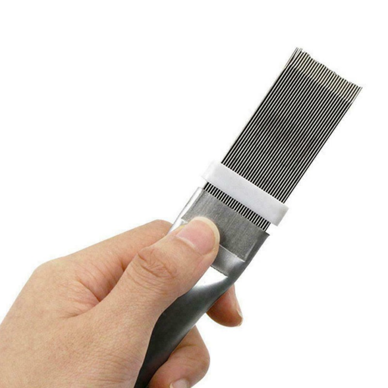 Fin Straightener Cleaner Repair Tool And Radiator Metal Cleaning Brush Accessory Fin Comb Air Conditioner Condenser