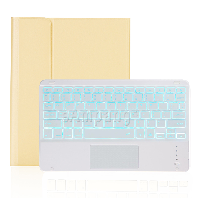 yellow with white Yellow For iPad 7th 8th Generation 10 2 2019 A2200 A2198 A2232 Case with Backlit Touchpad Keyboard