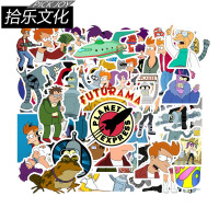 50 cartoon animations fly out a Futurama sticker personalized graffiti decorative luggage sticker