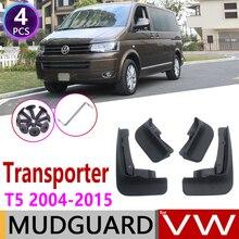 Mudflap para volkswagen vw transformador t5 caravelle, multivan 2004 ~ 2015, para fender, barbas, acessórios para proteção contra abacaxis