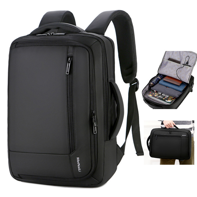 Men's Backpack 15.6-inch Business Laptop Bag Youth School Bag Large Capacity Waterproof Anti-theft Travel Rucksack