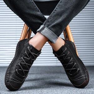 Image 4 - Valstone秋冬メンズスニーカー媒体カットブーツ男性ヴィンテージ革ハンドメイドの靴スニーカーxlサイズ48レトロフロスティブーツ