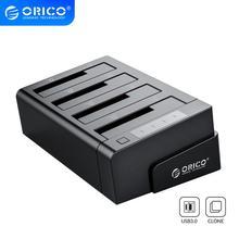 ORICO 4 베이 USB 3.0 SATA 외장형 하드 드라이브 독 오프라인 클론 2.5 및 3.5 인치 HDD 도킹 스테이션 USB HDD 케이스 클론