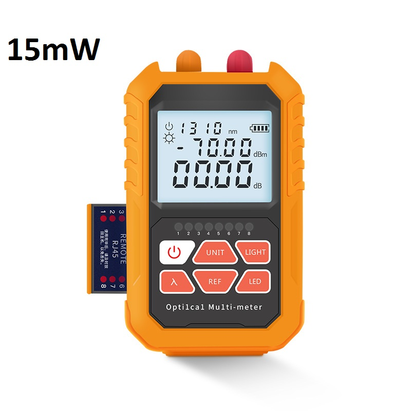 Chargable Fiber Optical Power Meter 15mW Visual Fault Locator RJ45 Cable Tester