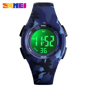 Image 2 - Skmei子供液晶電子デジタル腕時計スポーツ腕時計ストップウォッチ発光 5Bar防水子供腕時計女の子