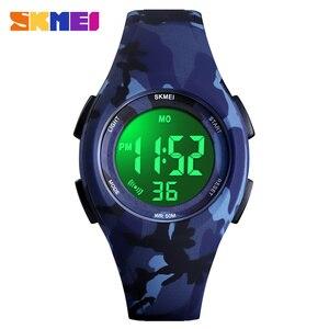 Image 2 - Skmei Kinderen Lcd Elektronische Digitale Horloge Sport Horloges Stop Horloge Lichtgevende 5Bar Waterdichte Kinderen Horloges Voor Jongens Meisjes