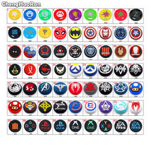 ChengHaoRan 1Pc Silicone Analog Thumb Stick Grips Caps Joystick Cover For PS5 PS4 Slim PS3 Xbox One/360 Switch Pro Controller