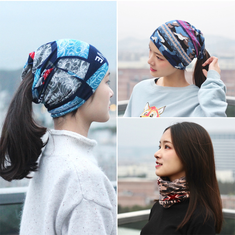 Baotou Hat Female Autumn And Winter Headgear Pile Hat Bib Fashion Wild Headscarf Hat Month Hat British Trend Beanies Kippah