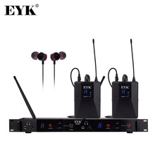 EYK IEM82 UHF Wireless In Ear Monitor System Dual Channels 16 Frequencies Selecable Perfect for Singer Stage Performance DJ