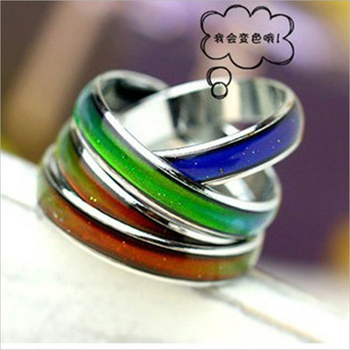 4MM Width Classic Temperature Change Color Mood Ring Hot Sale Jewelry Smart Discolor Rings Best Gift For Friends Free Shipping 5