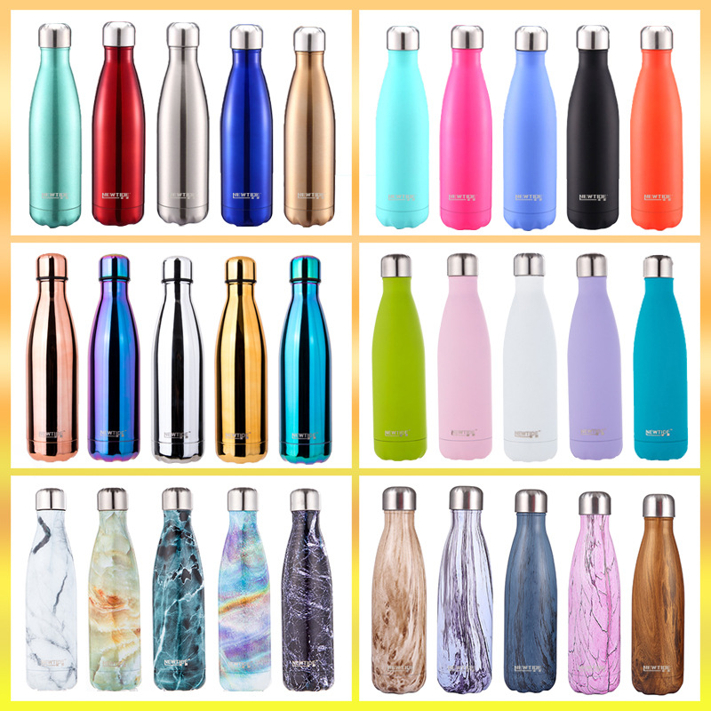500ml Double Wall Vacuum Stainless Steel Insulated Water Bottles with custom logoWater Bottles   -
